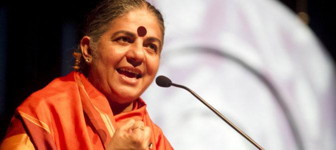 Recado de Vandana Shiva ao Seminário